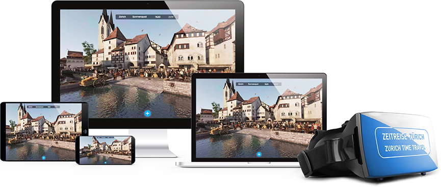 Zeitreise Zürich - die verschiedenen Ausgabe-Medien