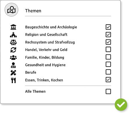 Zeitreise Zürich - Themenwahl
