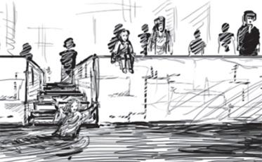Drehbuchskizzen aus dem Zwingli-Film